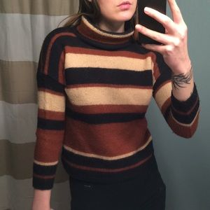 Coffee and Cream Striped Sweater